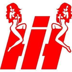 International Harvester Sexy Girls Tractor Truck Huge Decal Easy