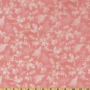 44 Wide Love & Kisses Abstract Paisley & Foliage Rose Fabric By The