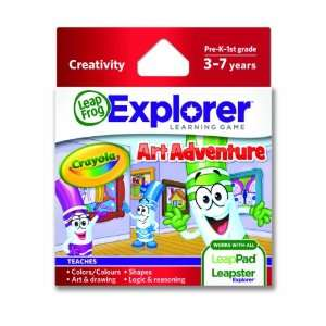 LeapFrog Explorer Learning Game Crayola Art Adventure Toys & Games