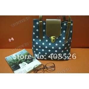 Faux Leather Polka Dots Womens Handbag Shoulder Bags Tote