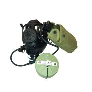 M 15 Gas Mask with Nato Filter and Hydration Canteen with