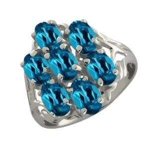 3.85 Ct Oval London Blue Topaz Sterling Silver Ring