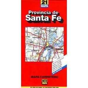 Santa Fe Province Map (9781586110741) Auto Mapa SRL Books