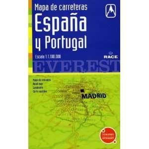 Mapa De Carreteras De España Y Portugal. 11.100.000