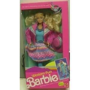 Western Fun Barbie   #9932   Mattel  Toys & Games