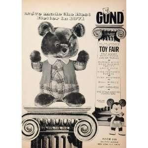 Doll Toy Disney Mickey Mouse Bear   Original Print Ad