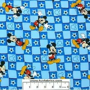 Mickey Mouse Star Patch Blue Fabric Arts, Crafts & Sewing