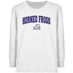 TCU Horned Frogs Youth White Logo Arch T shirt