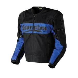Scorpion Cool Rod Black/Blue Mesh Motorcycle Jacket Automotive