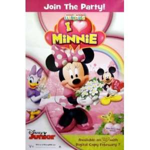 Disneys Mickey Mouse Clubhouse I Love Minnie Mouse Movie Poster 27 X