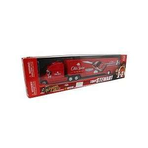2009 Red Box Tony Stewart #14 Old Spice Hauler Trailer Tractor Semi