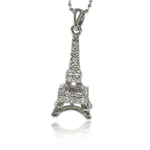 Crystal Eifel Tower Pendant Necklace Fashion Jewelry