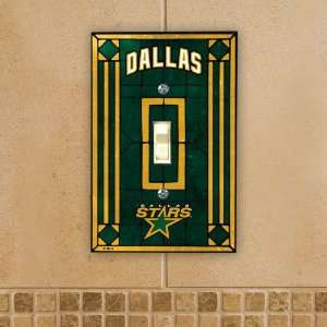 Pack of 4 Officially Licensed NHL Hockey Dallas Stars Art Glass Switch