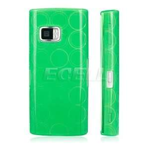 GREEN SILICONE RUBBER GEL SKIN CASE COVER FOR NOKIA X6 Electronics