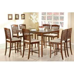 Finish Counter Height Dining Table & Bar Stool Set Home & Kitchen