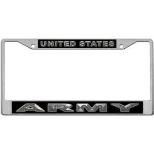 United States   Army Custom License Plate METAL Frame from Redeye