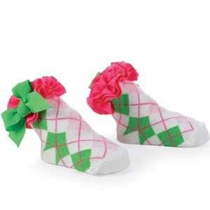Hot Pink Argyle Socks by Mud Pie Baby