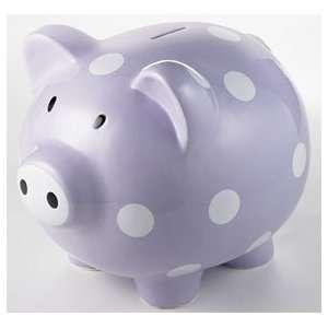 Giant Purple Polka Dot Piggy Bank   (Child) Baby