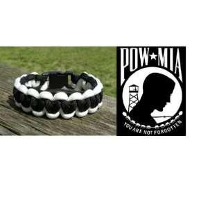 POW/MIA Paracord Bracelet (Black & White)