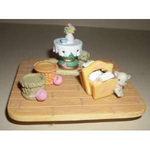 Precious Moments Collectible Miniature Figure Set