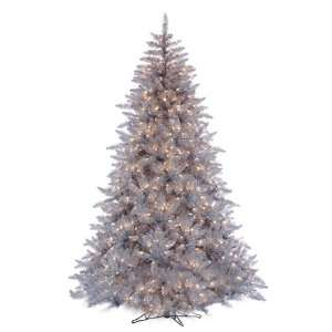 7.5 Silver Ashley Pre Lit Artificial Christmas Tree Clear
