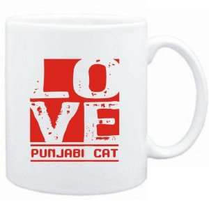 Mug White  LOVE Punjabi  Cats