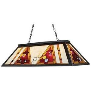 Amber and Red Tiffany Style Island Chandelier: Home Improvement