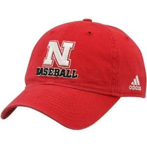 Nebraska Cornhuskers Red Adjustable Baseball Hat