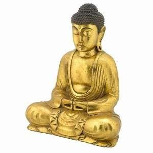 Resin Meditating Buddha Home or Garden Decor Statue Asian Art Home