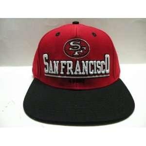 NFL San Francisco 49ers Bold Black 2 Tone Retro Snapback Cap