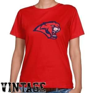 Houston Cougars Ladies Red Distressed Logo Vintage Classic
