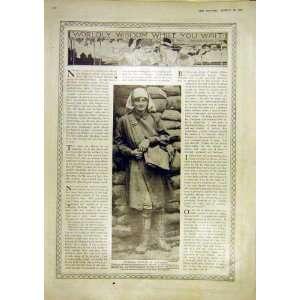 Sandbags Handbags Women War Army France Print 1917