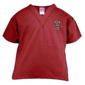 Alabama Crimson Tide Crimson Youth Mascot Scrub Top