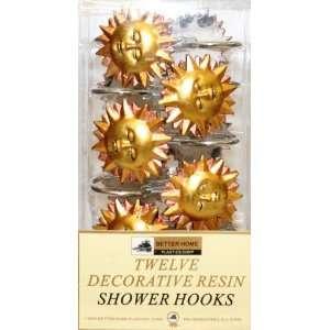 Sunny Side Set of 12 Shower Hooks: Home & Kitchen