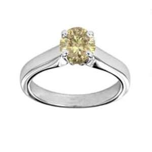 34ct Round Cognac Diamond Solitaire Engagement Ring 14k Gold Jewelry