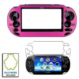 com Pink Aluminium Metallic faceplate Protective Case Cover for Sony
