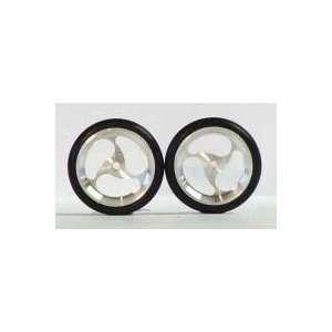 JDS   3 Spoke Oval Drag Front Wheels, 3/4 Diameter (Slot