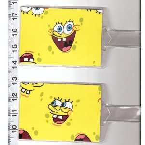 Tags Made with Spongebob Squarepants Faces Fabric: Everything Else
