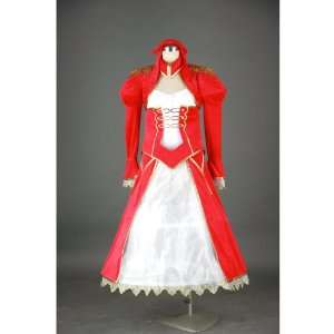 Japanese Anime Fate Stay Night Cosplay Costume   Red Saber