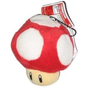 Nintendo Super Mario Bros. Mushroom Plush w/ Strap Toys & Games