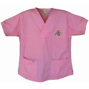 OSU Buckeyes Pink Scrubs Tops SHIRT Ohio State For HER  Officially