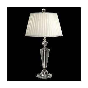 com Dale Tiffany GT10011 Crystal Table Lamp, Nickel and Fabric Shade