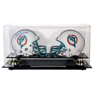 Classic Double Mini Football Helmet Display Case Sports Collectibles