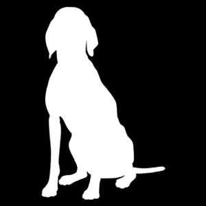Hound Dog vinyl window decal sticker