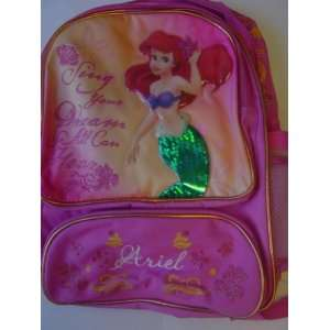 Princess Ariel   The Little Mermaid Large Backpack Toys & Games