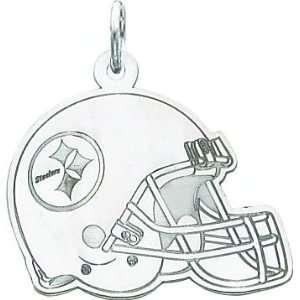 14K White Gold NFL Pittsburgh Steelers Football Helmet