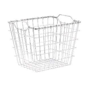 Extra Large Chrome Metal Wire Nesting Basket Avant Line