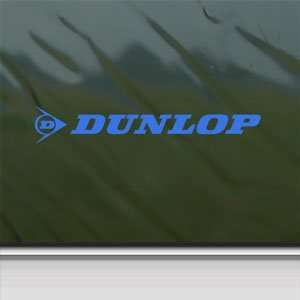 Dunlop Blue Decal Suzuki Yamaha Honda Kawasaki Car Blue