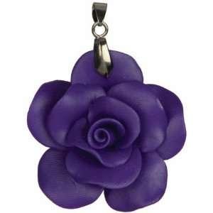 Midnight Garden Acrylic Pendant Purple Rose