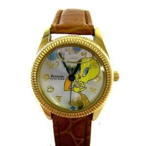 Looney Tunes Tweety Bird Watch w/ Floating Heart Shape Glitter : Toys